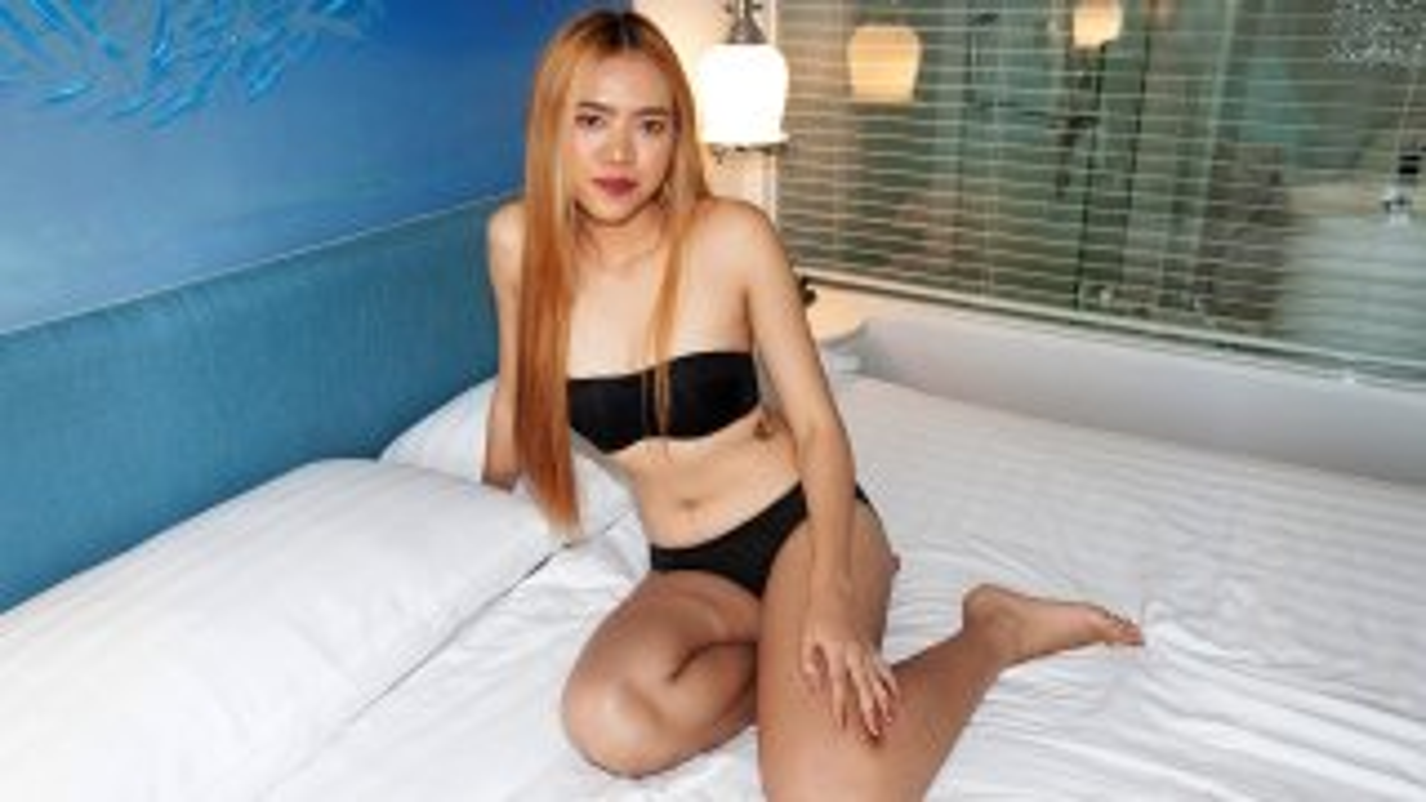 Stunnin' Hairless Asian Pussy Gets A Poppin'! - TukTuk Patrol